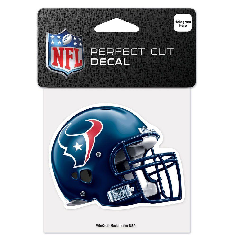 amfoo - Wincraft Helm Aufkleber 10x10cm - NFL Houston Texans