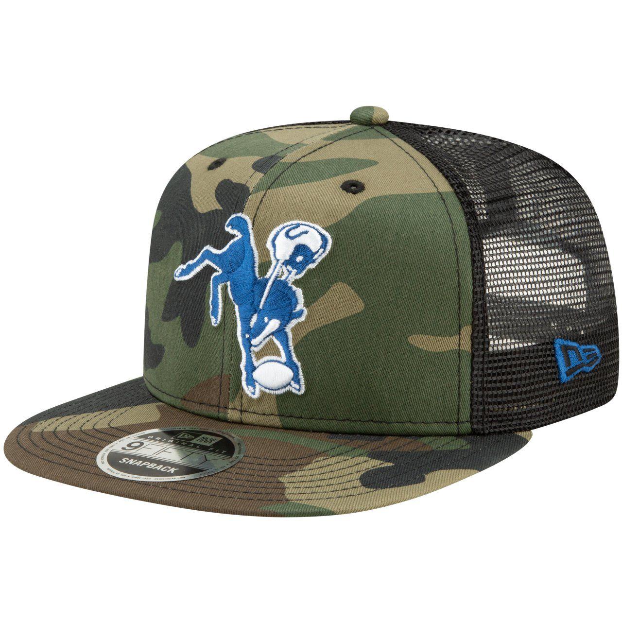 amfoo - Throwback Baltimore Colts Mesh 9Fifty Snapback Cap wood camo