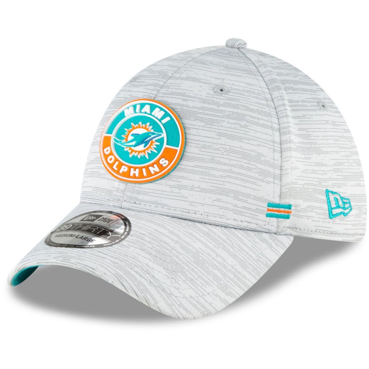 amfoo - New Era 39Thirty Cap - SIDELINE 2020 Miami Dolphins