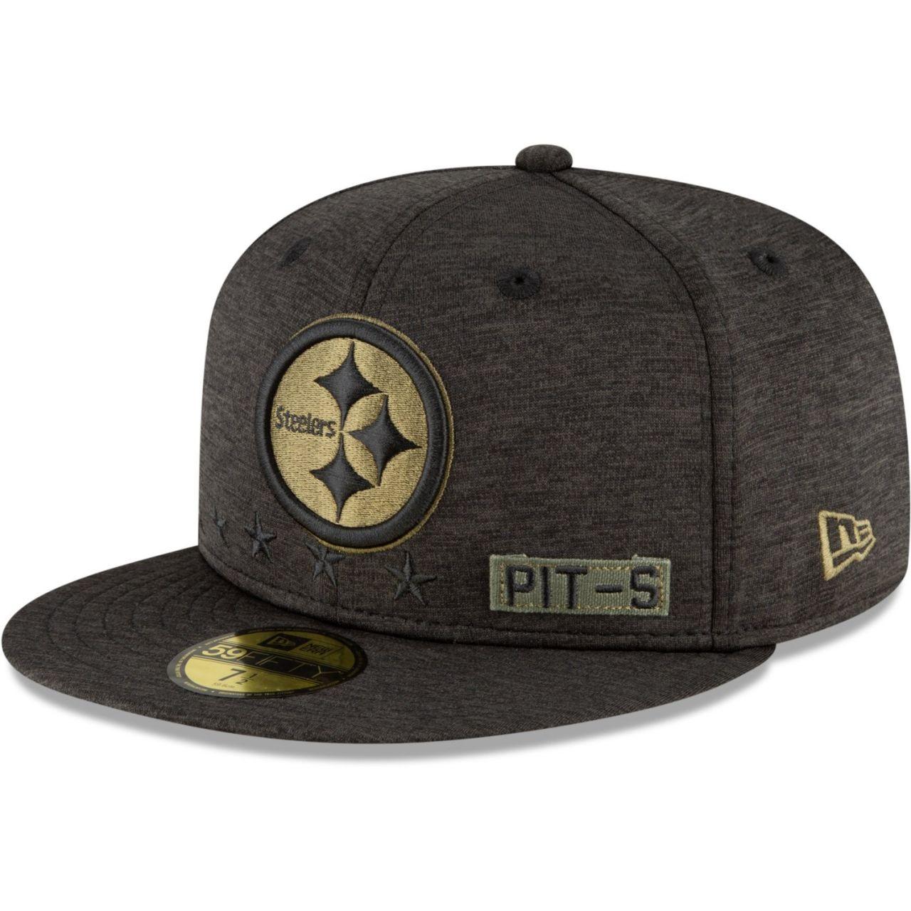 amfoo - New Era 59FIFTY Cap Salute to Service Pittsburgh Steelers