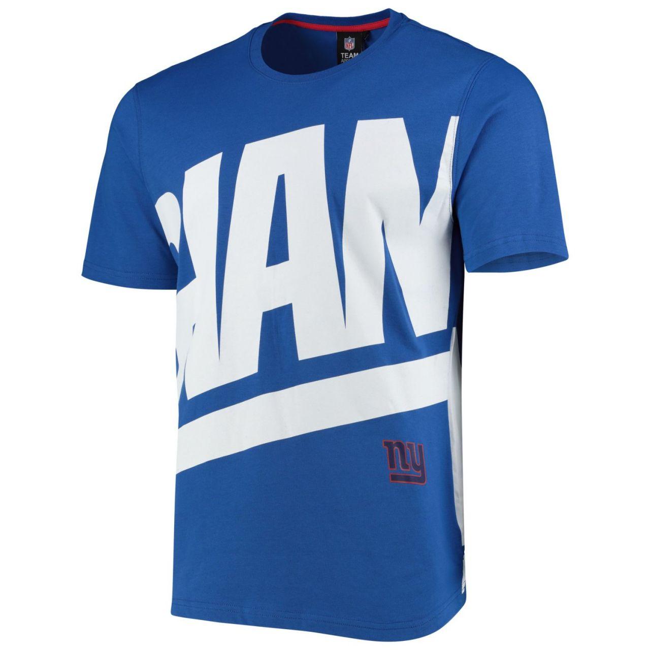 amfoo - New York Giants BIG GRAPHIC NFL Shirt royal