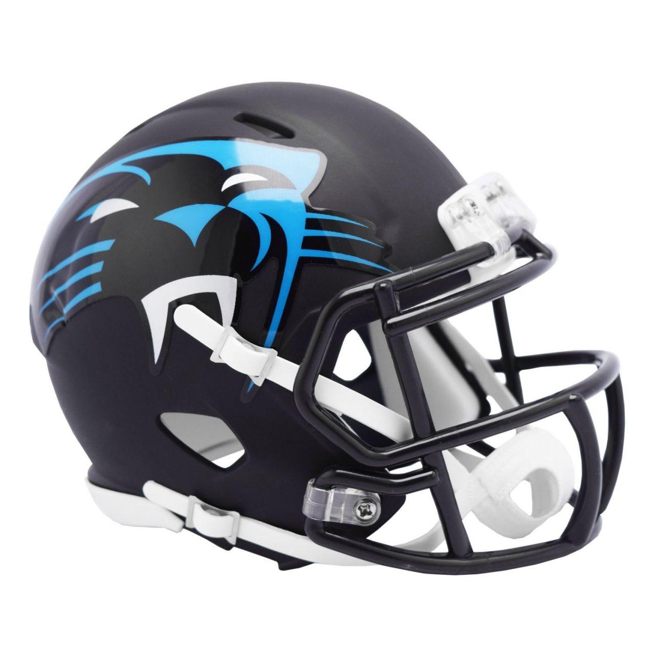 amfoo - Riddell Speed Mini Football Helm - NFL AMP Carolina Panthers