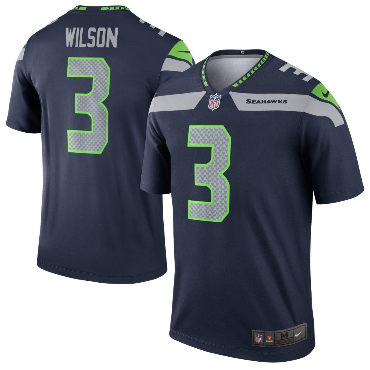 amfoo - Nike LEGEND Jersey Seattle Seahawks #3 Russell Wilson