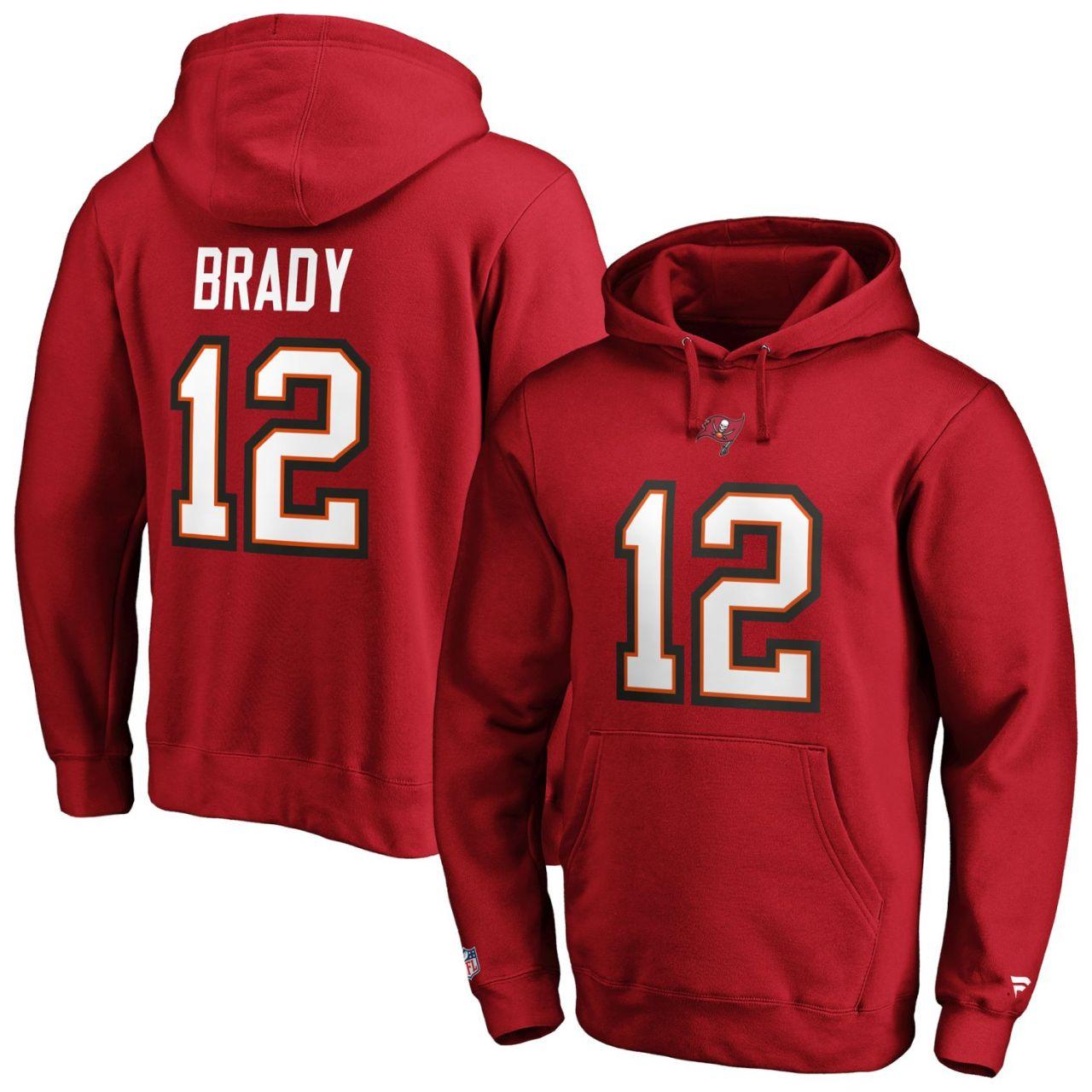 amfoo - Tampa Bay Buccaneers NFL Hoody #12 Tom Brady