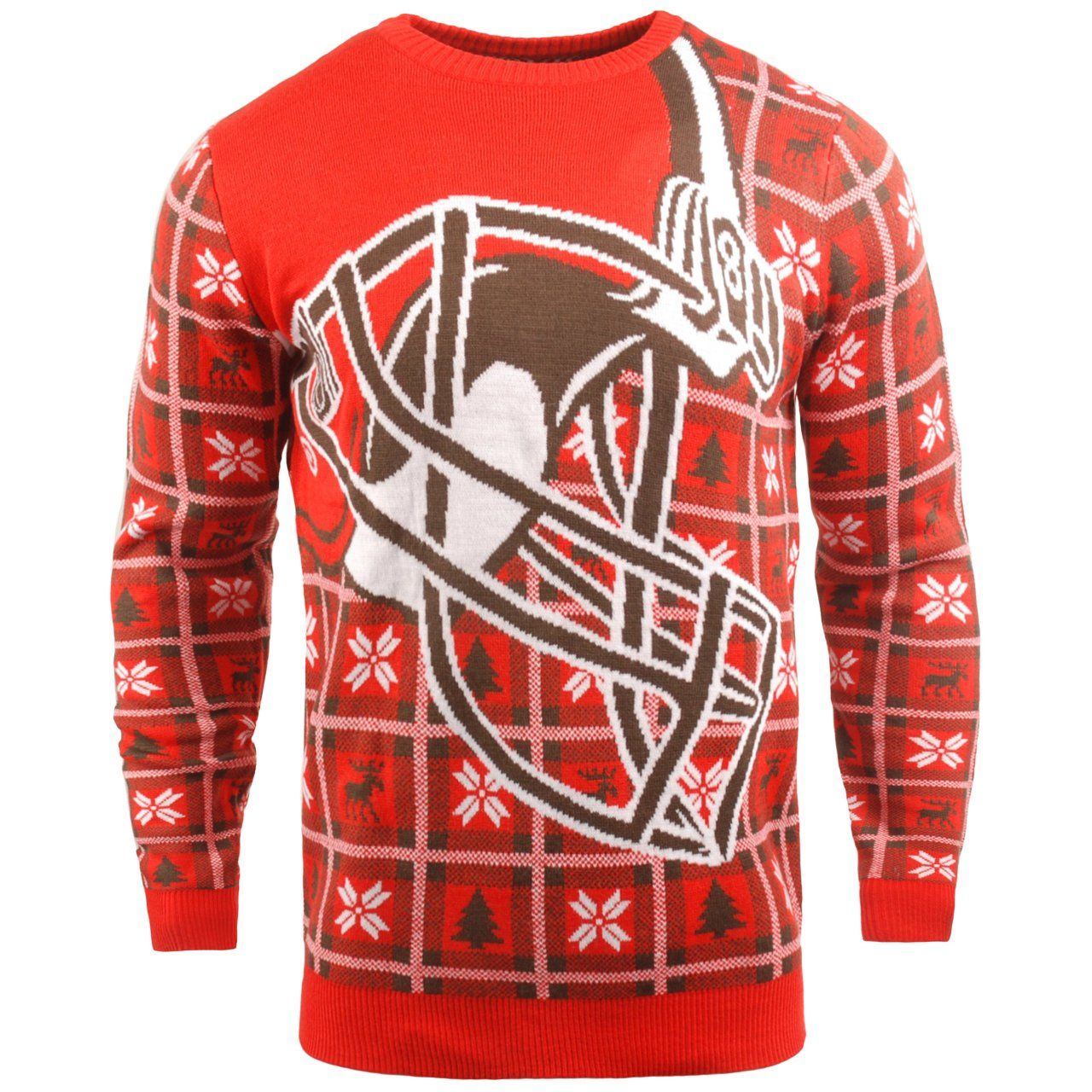 amfoo - NFL Ugly Sweater XMAS Strick Pullover - Cleveland Browns