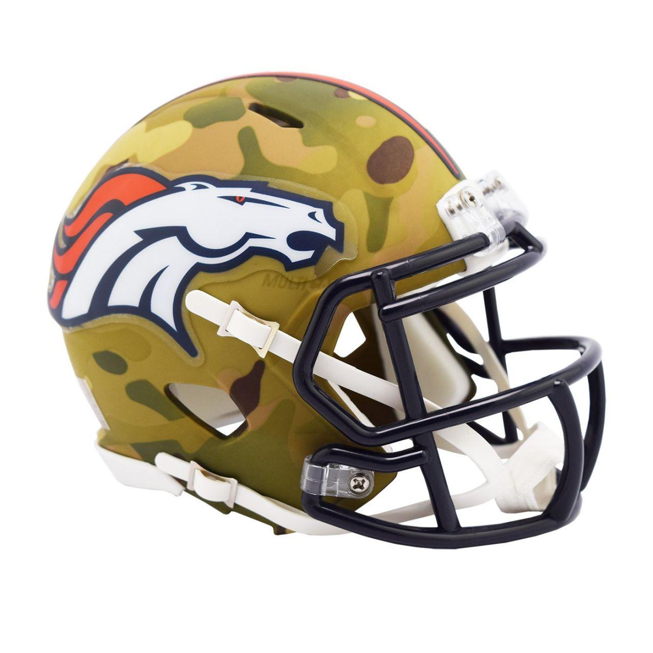 amfoo - Riddell Mini Football Helm MULTICAM Denver Broncos