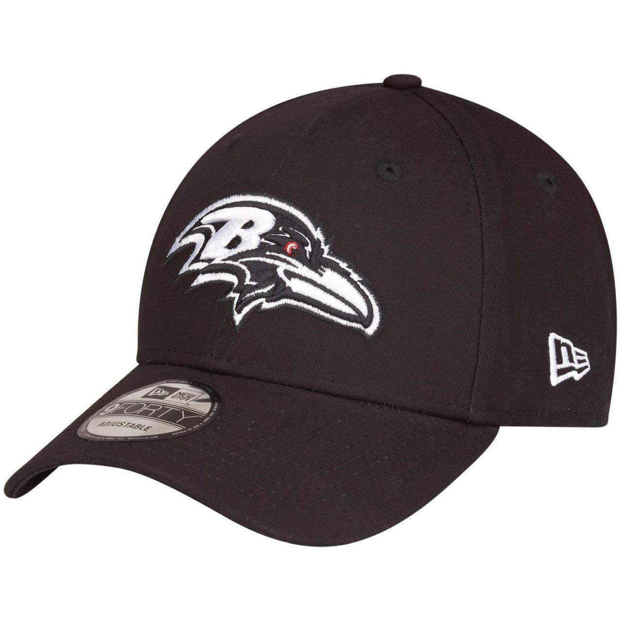 amfoo - New Era 9Forty Adjustable NFL Cap - BLACK Baltimore Ravens