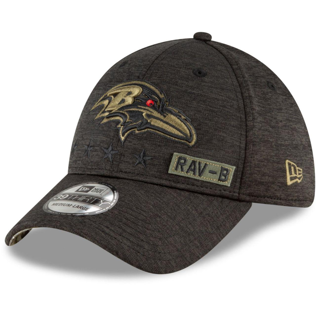 amfoo - New Era 39Thirty Cap Salute to Service Baltimore Ravens