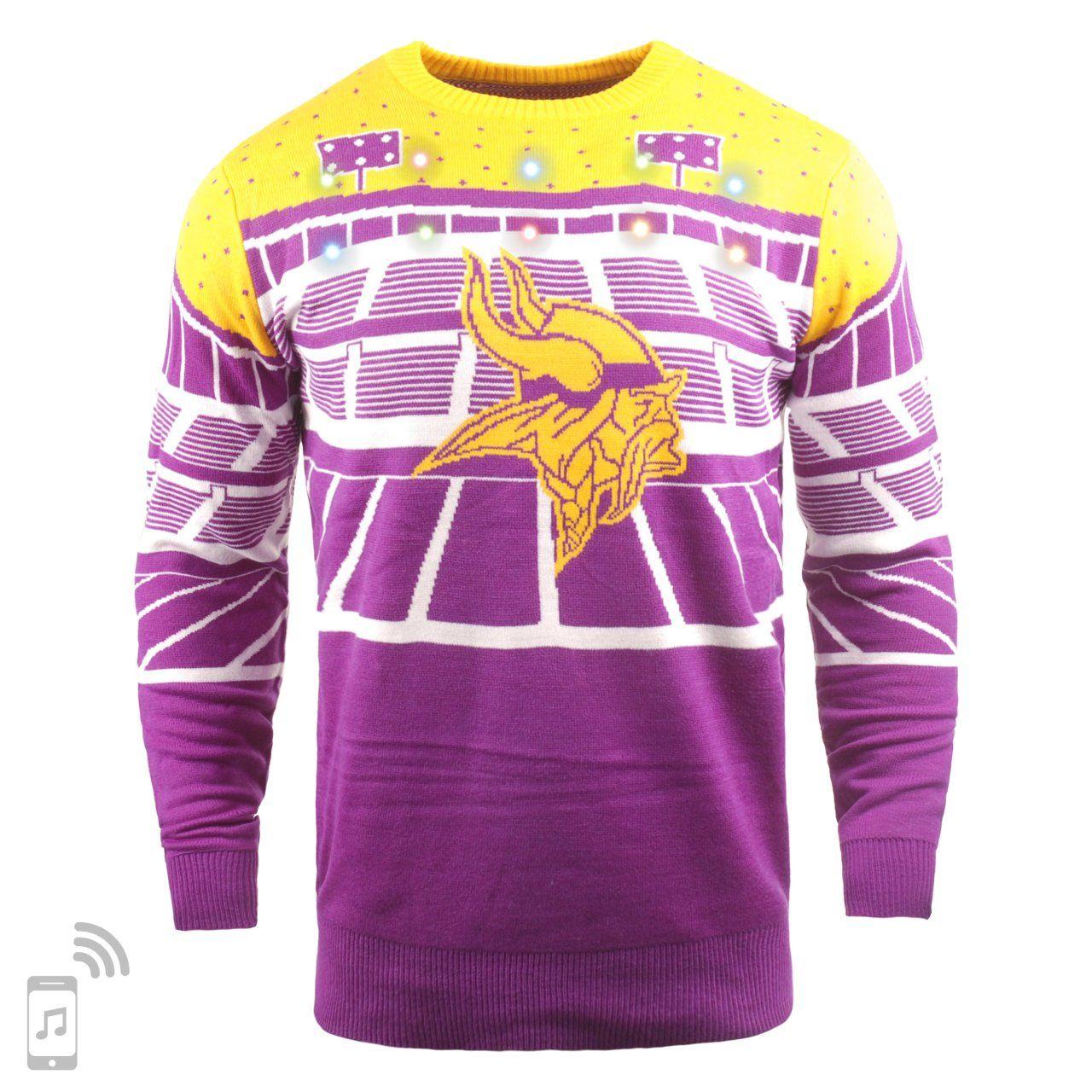 amfoo - NFL Ugly Sweater XMAS LED Pullover - Minnesota Vikings