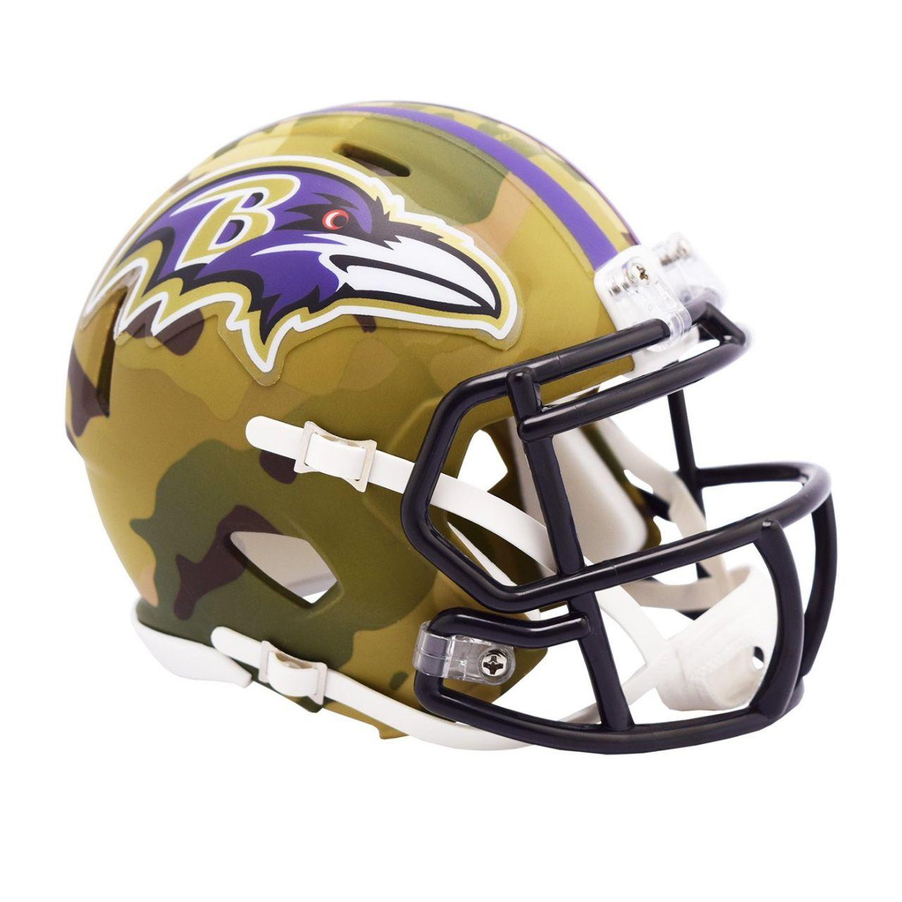 amfoo - Riddell Mini Football NFL Helm MULTICAM Baltimore Ravens