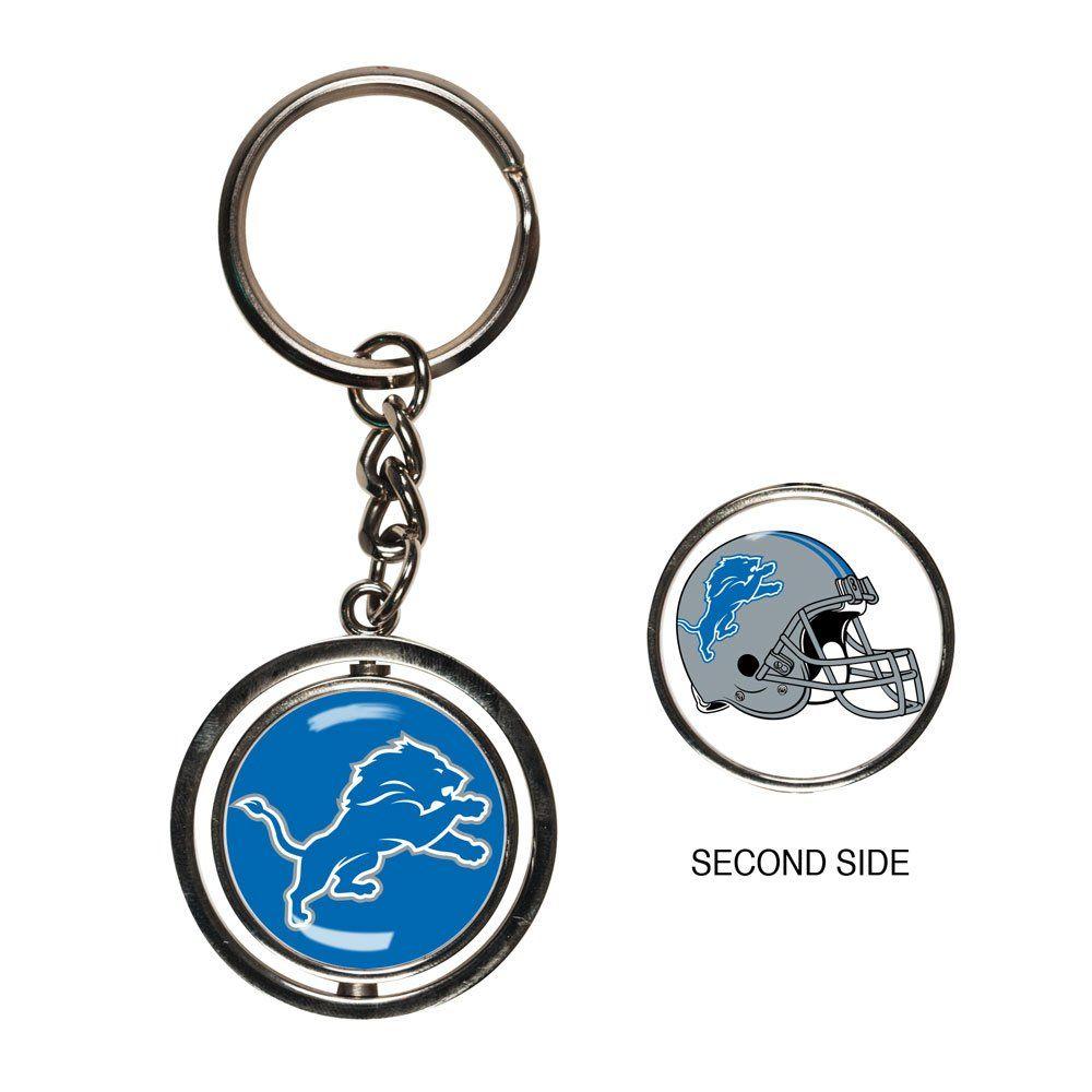amfoo - Wincraft SPINNER Schlüsselanhänger - NFL Detroit Lions