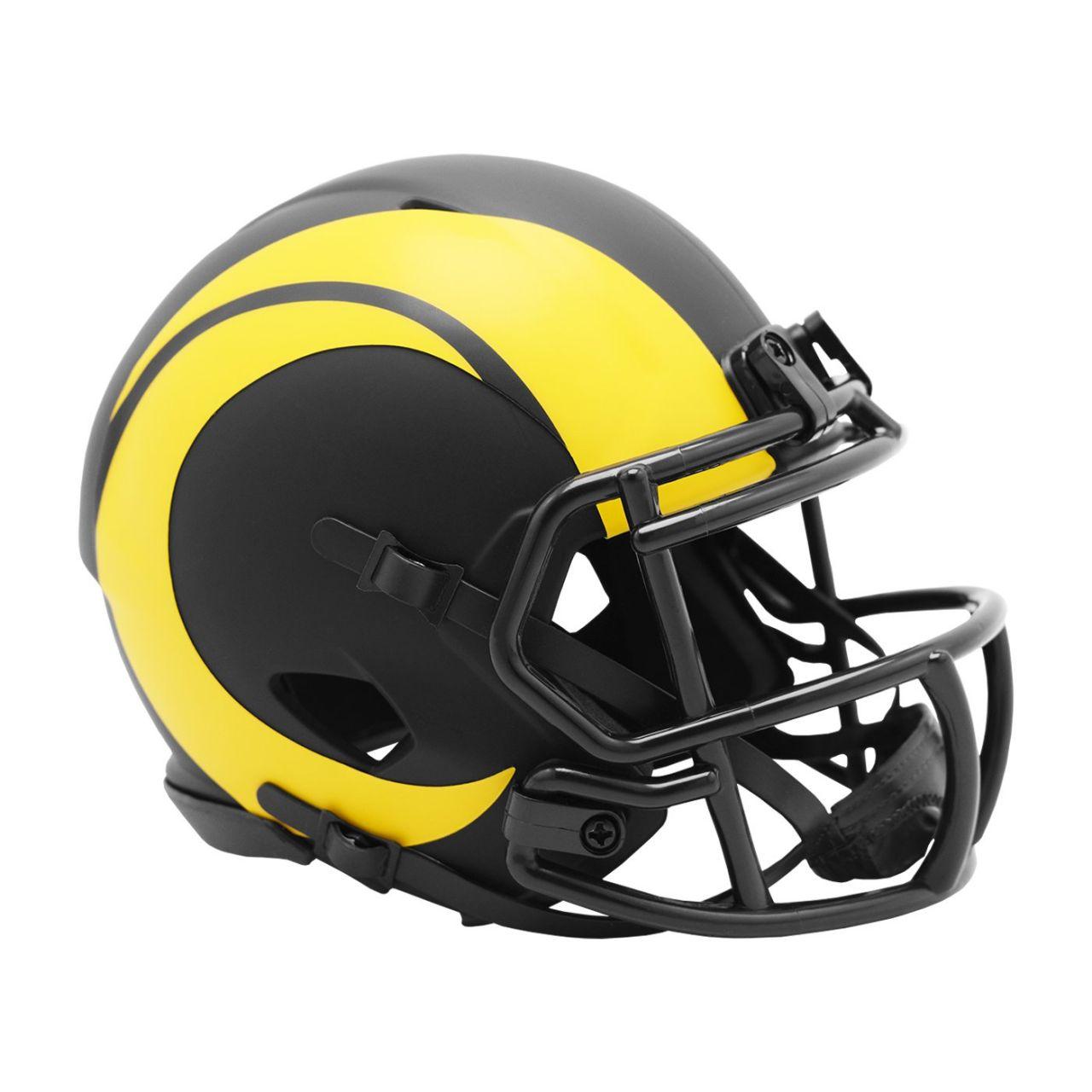 amfoo - Riddell Speed Mini Football Helm - ECLIPSE Los Angeles Rams