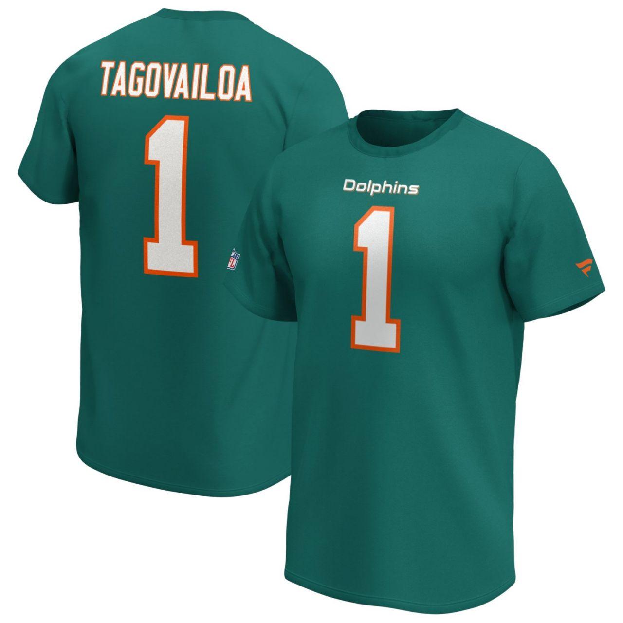 amfoo - Miami Dolphins NFL Shirt #1 Tua Tagovailoa