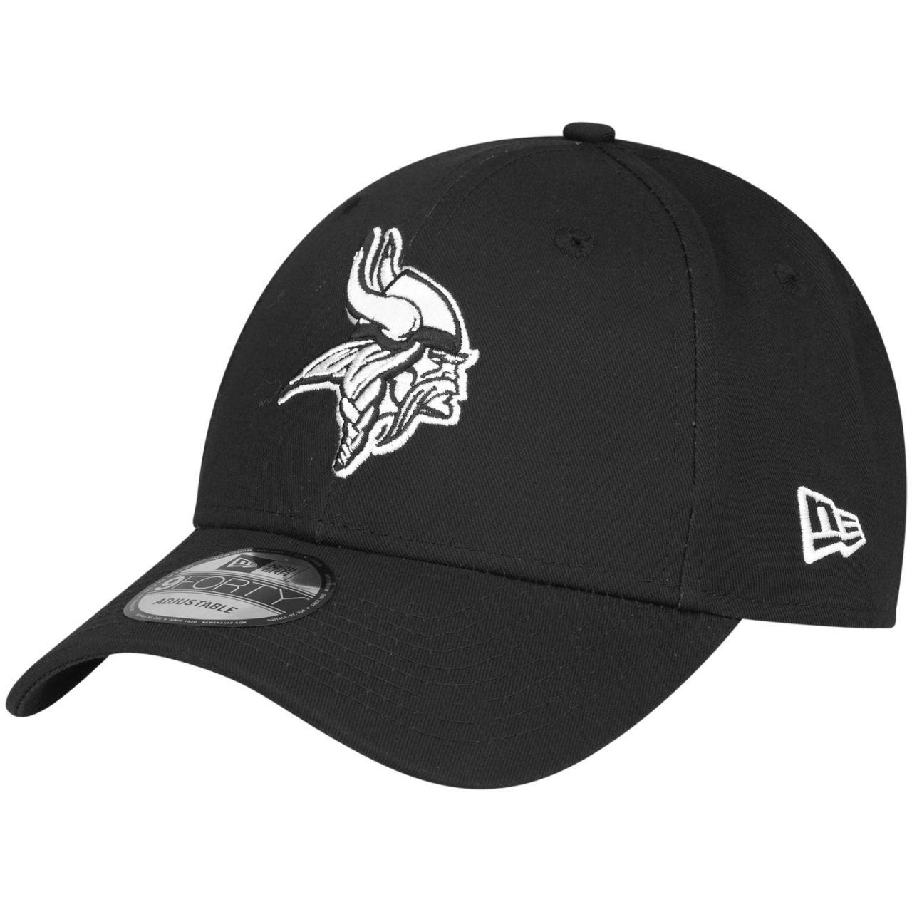 amfoo - New Era 9Forty Adjustable NFL Cap - BLACK Minnesota Vikings