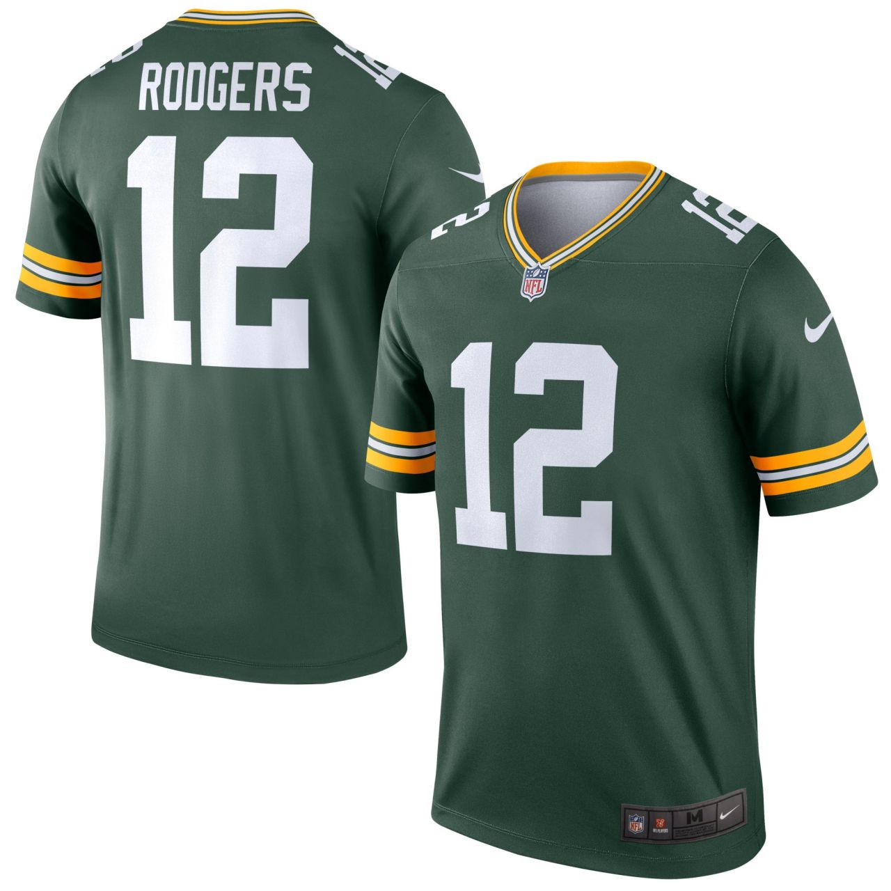 amfoo - Nike LEGEND Jersey Green Bay Packers #12 Aaron Rodgers