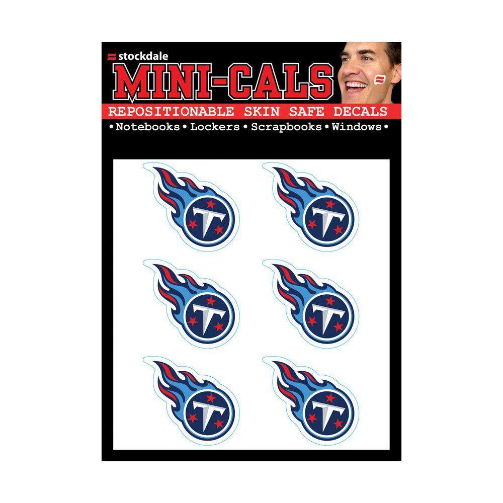 amfoo - Wincraft 6er Gesicht Aufkleber 3cm - NFL Tennessee Titans