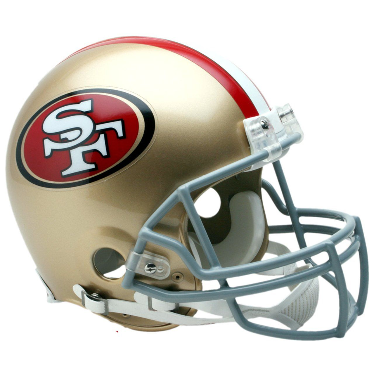 amfoo - Riddell VSR4 Authentic Football Helm - San Francisco 49ers