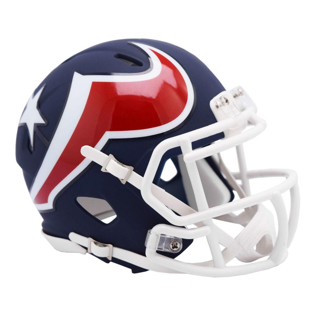 amfoo - Riddell Speed Mini Football Helm - NFL AMP Houston Texans