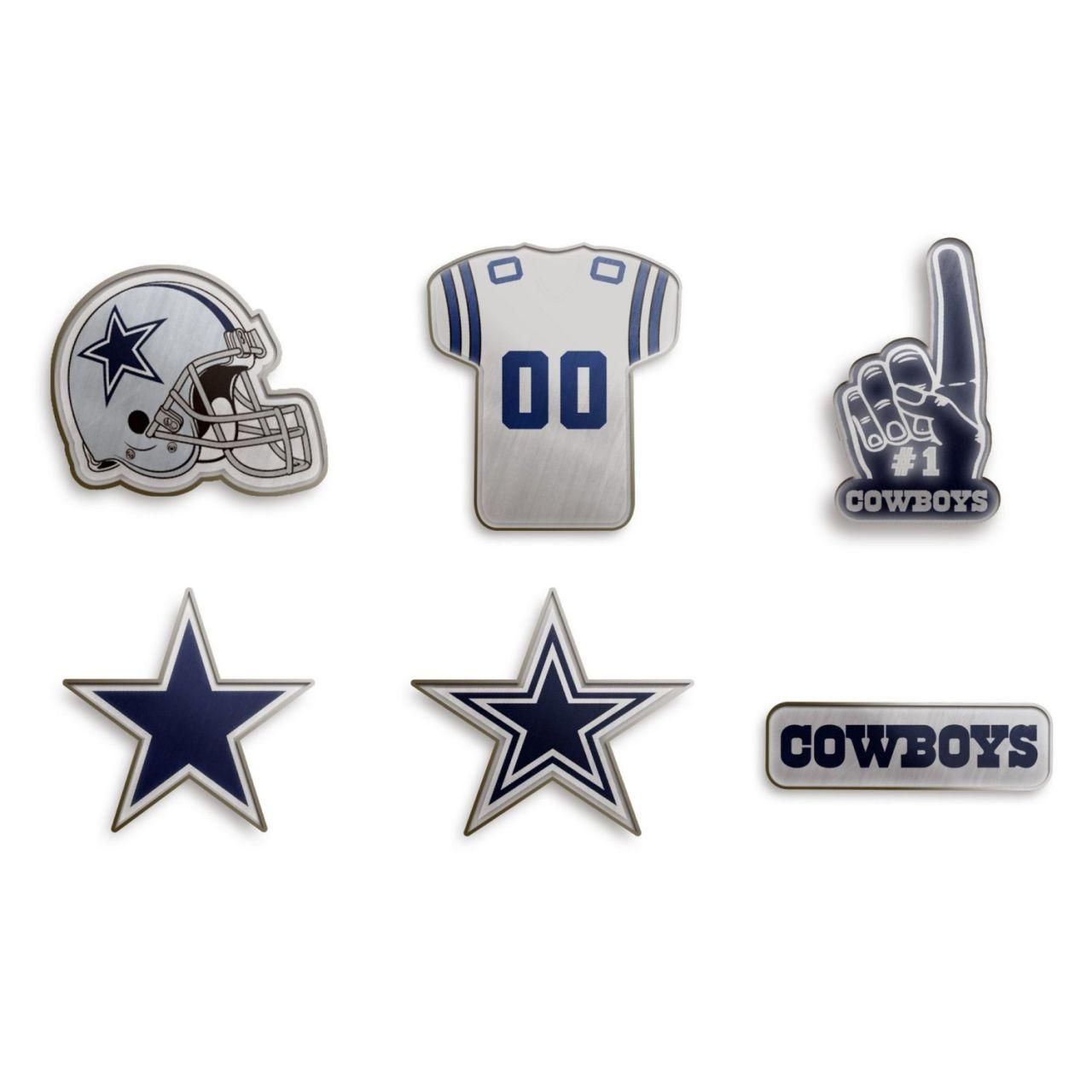 amfoo - Dallas Cowboys NFL Pin Badge Anstecknadel 6er Set