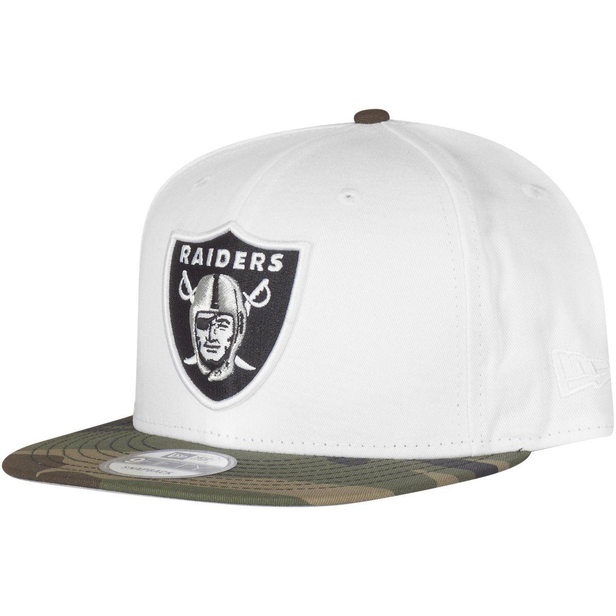 amfoo - New Era 9Fifty Snapback Cap - Oakland Raiders weiß / camo