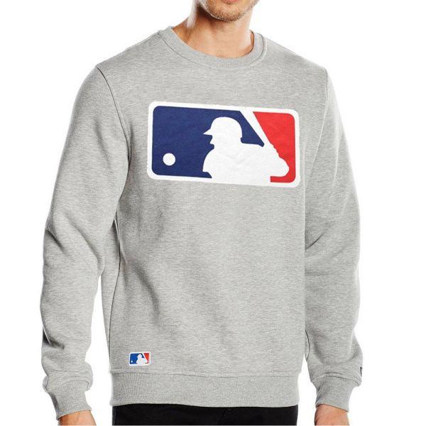 New Era Pullover - MLB LOGO Baseball grau