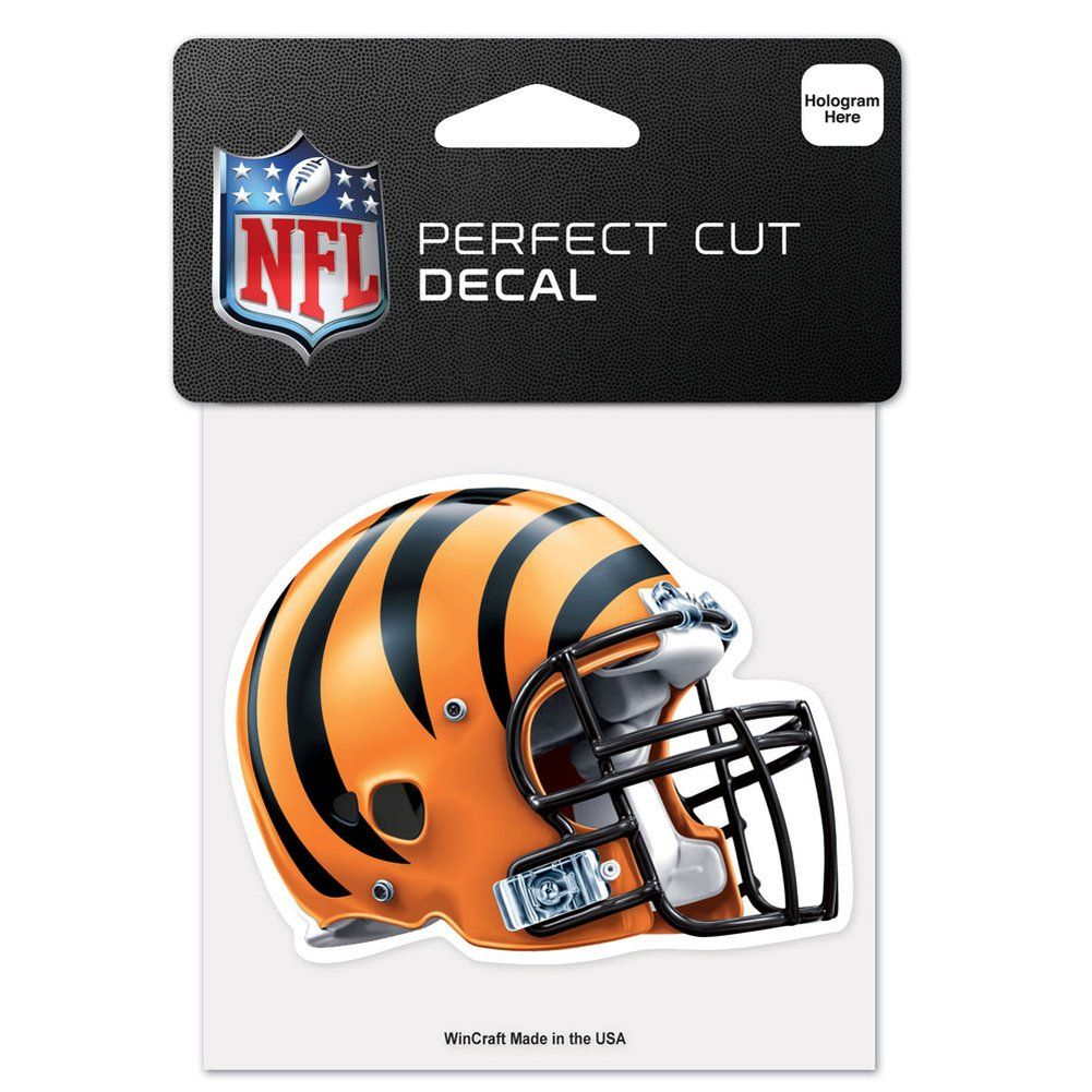 amfoo - Wincraft Helm Aufkleber 10x10cm - NFL Cincinnati Bengals