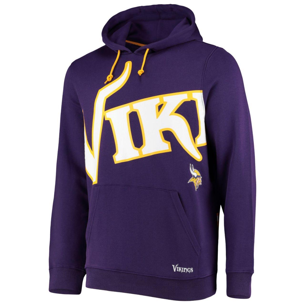 amfoo - Minnesota Vikings BIG GRAPHIC NFL Hoodie lila