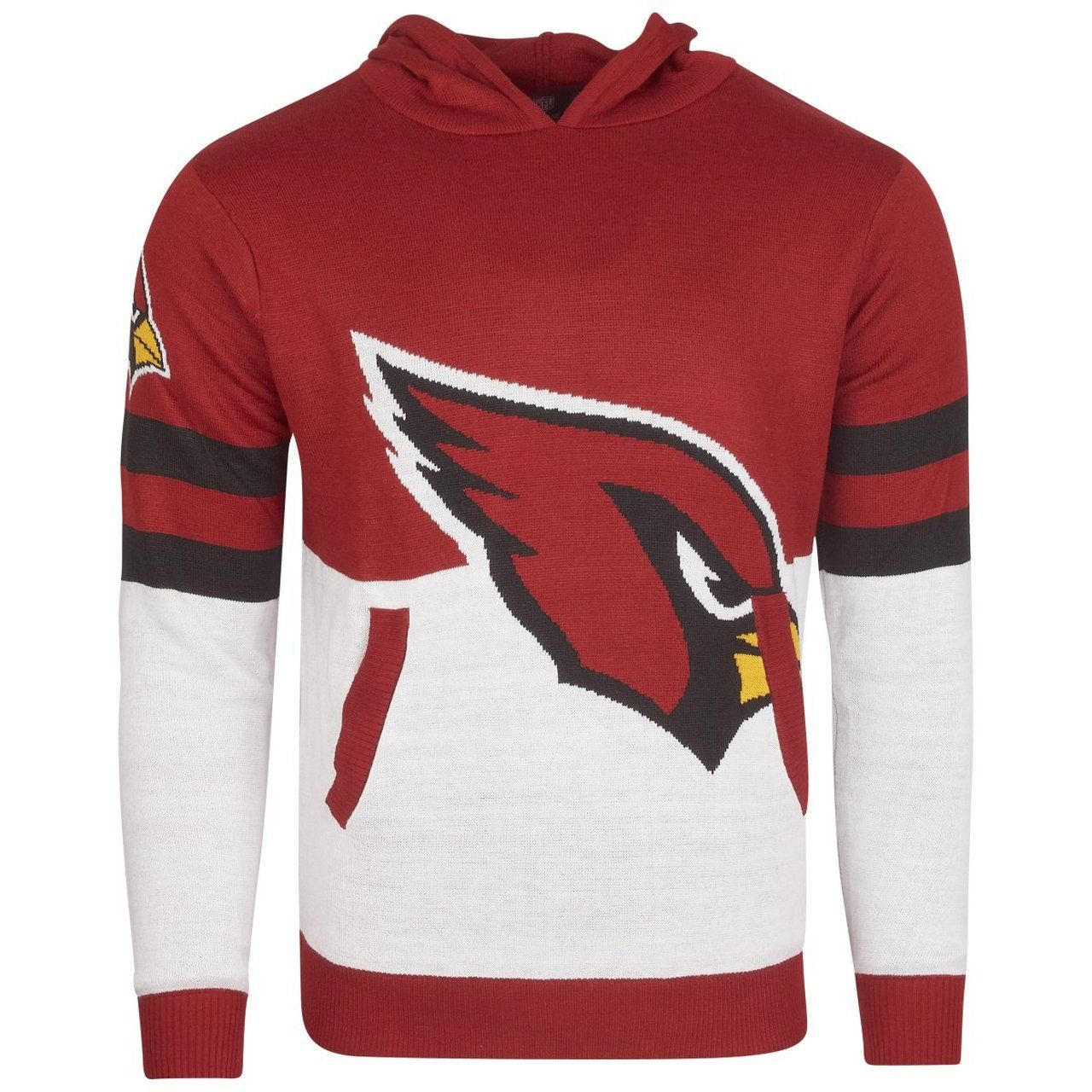 amfoo - NFL Ugly Sweater Big Logo Strick Hoody - Arizona Cardinals