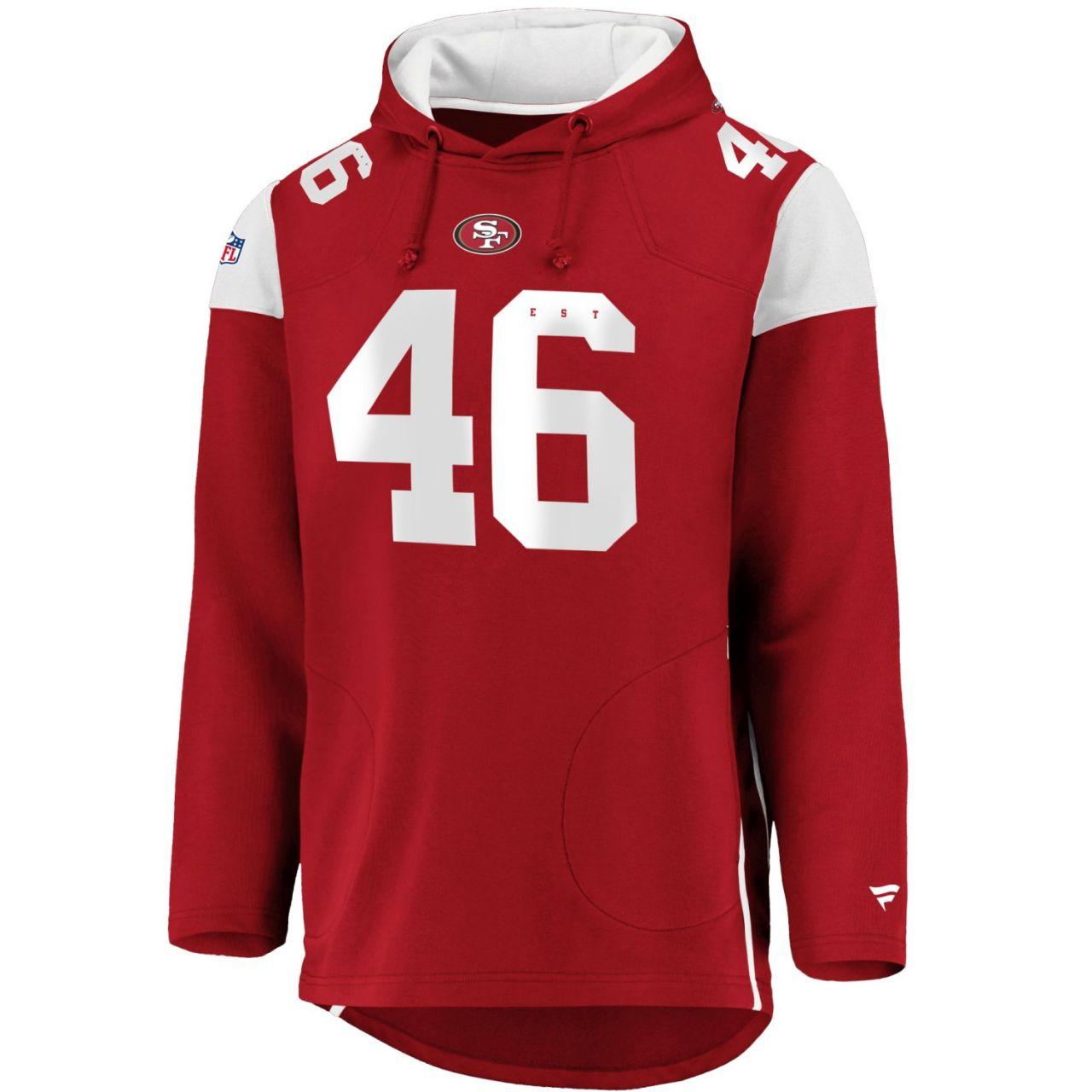 amfoo - Iconic Franchise Long Hoodie - NFL San Francisco 49ers