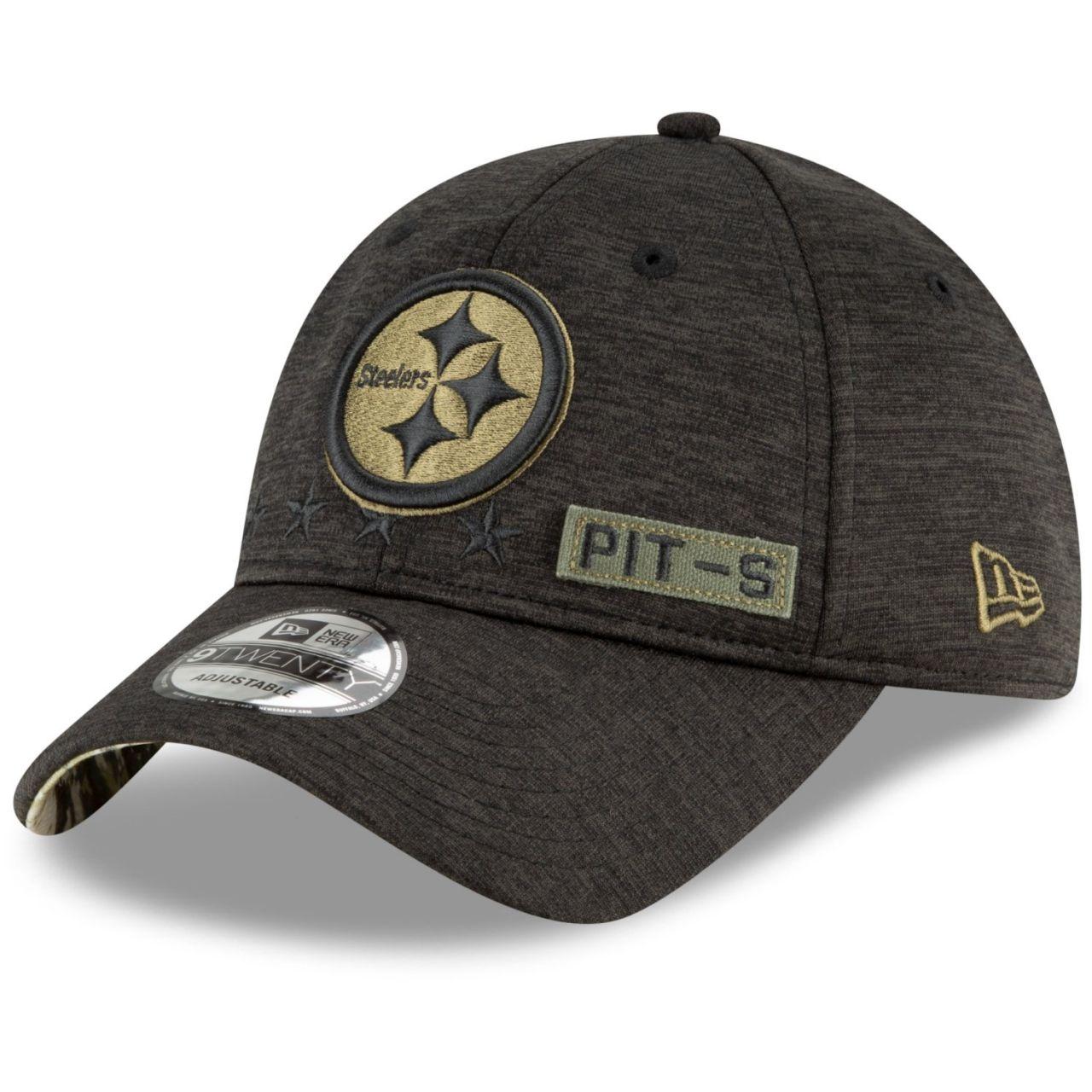 amfoo - New Era 9TWENTY Cap Salute to Service Pittsburgh Steelers