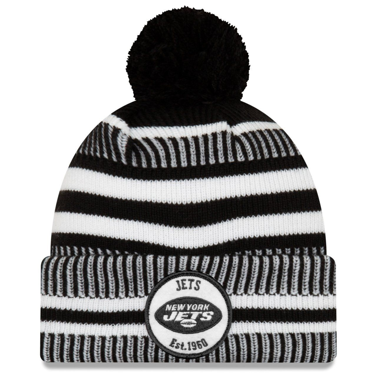 amfoo - New Era Sideline Black Home Bommel Mütze New York Jets