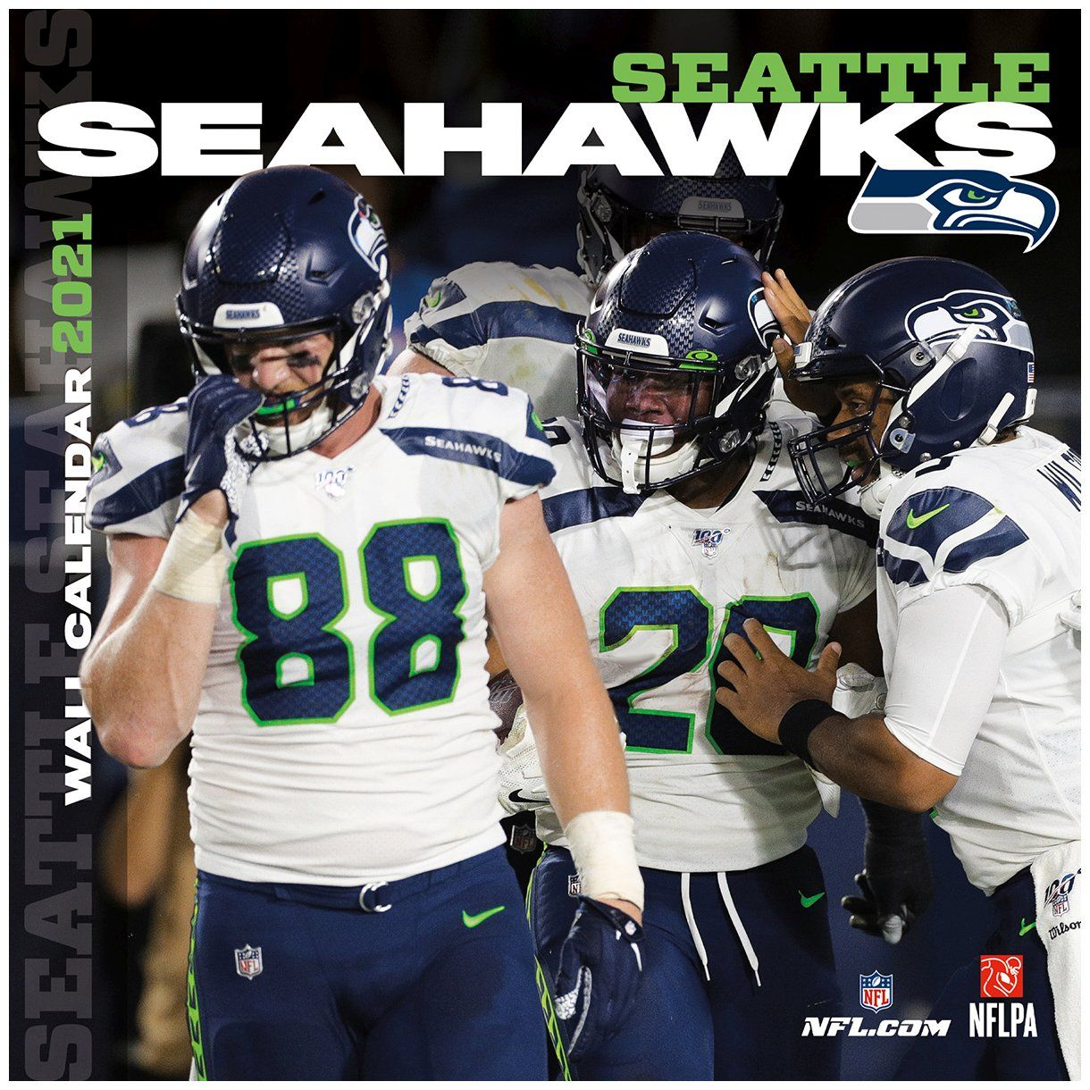 amfoo - Turner NFL 30x30cm Wand-Kalender 2021 Seattle Seahawks