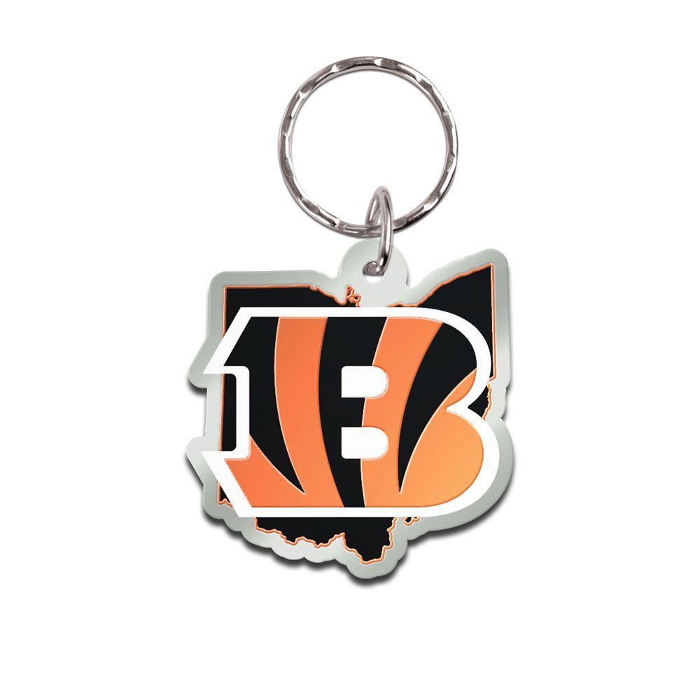 amfoo - Wincraft STATE Schlüsselanhänger - NFL Cincinnati Bengals