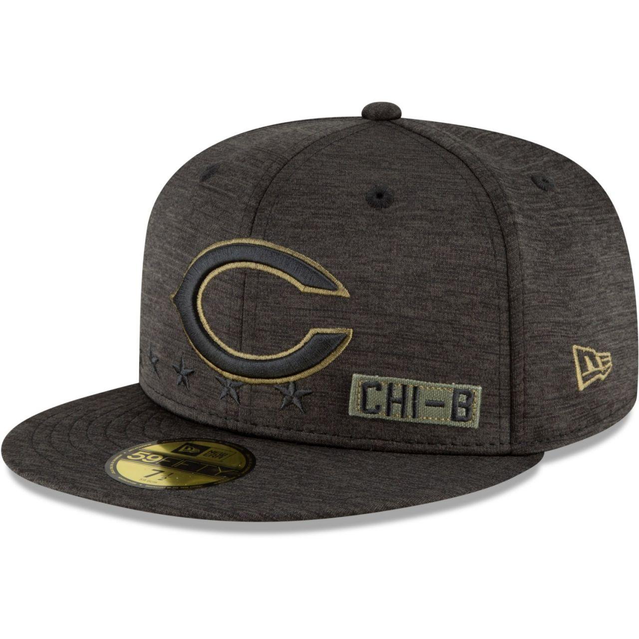 amfoo - New Era 59FIFTY Cap Salute to Service NFL Chicago Bears C