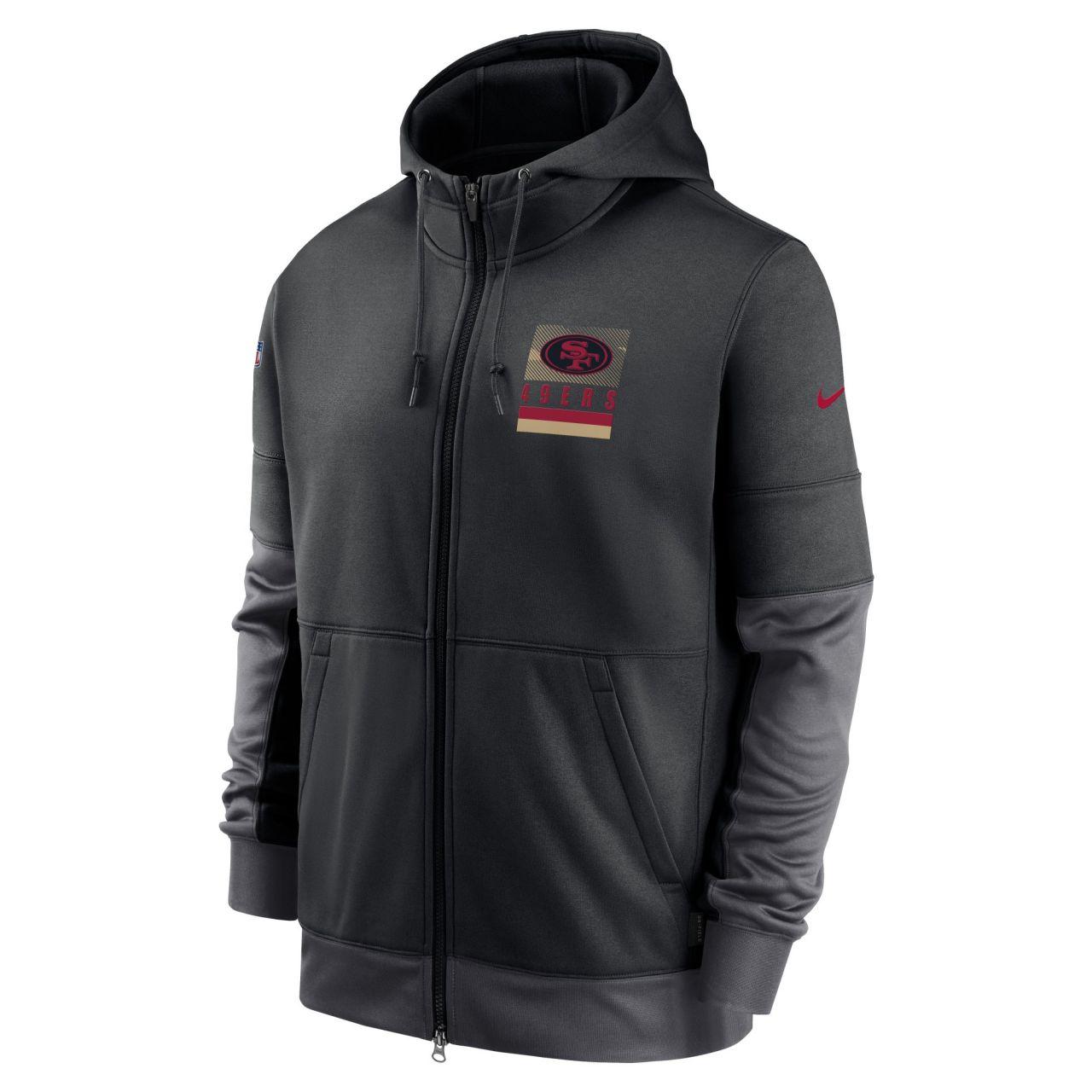 amfoo - Nike NFL Therma Zip Hoody - SIDELINE San Francisco 49ers