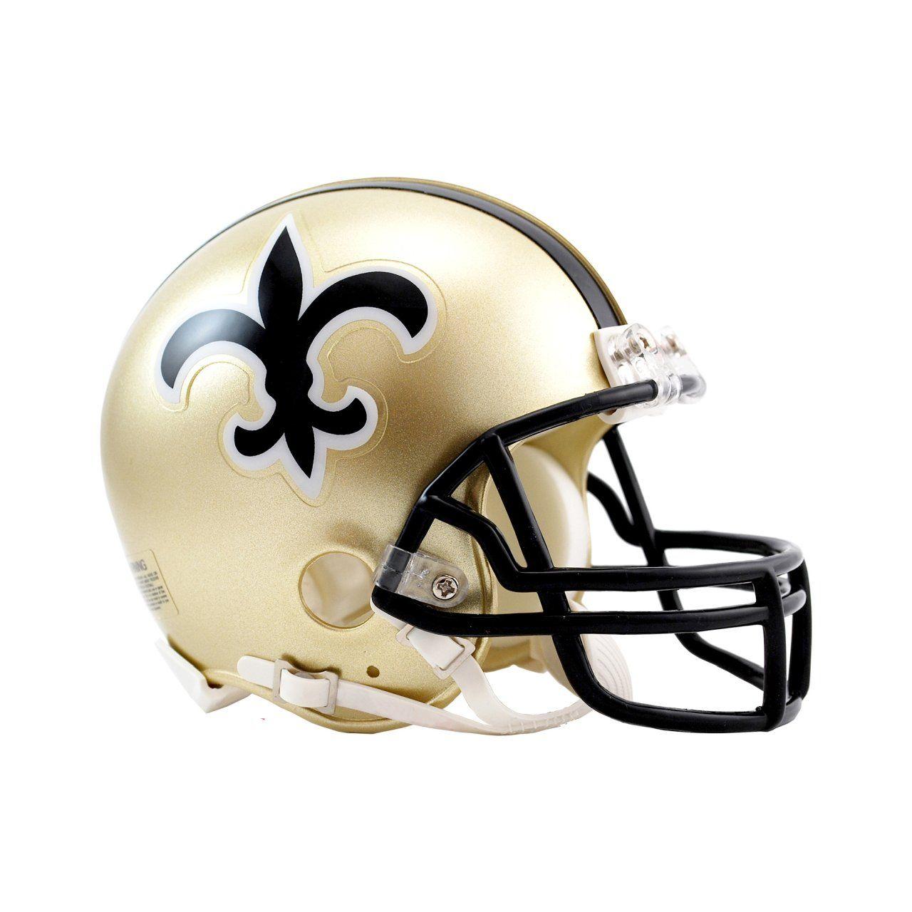 amfoo - Riddell VSR4 Mini Football Helm - New Orleans Saints 1976-99