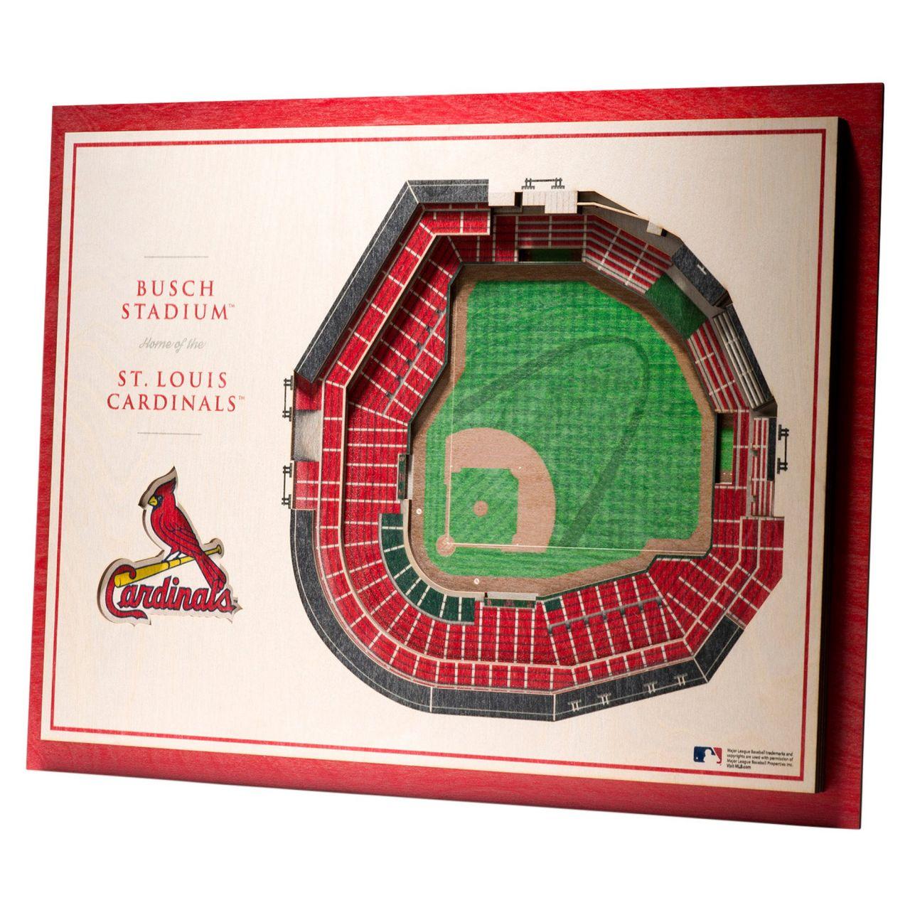 amfoo - YouTheFan Holz Wanddeko Stadion St. Louis Cardinals 43x33cm