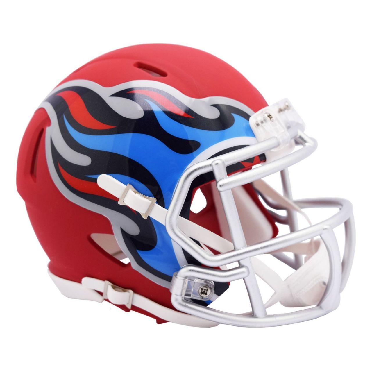 amfoo - Riddell Speed Mini Football Helm - AMP Tennessee Titans