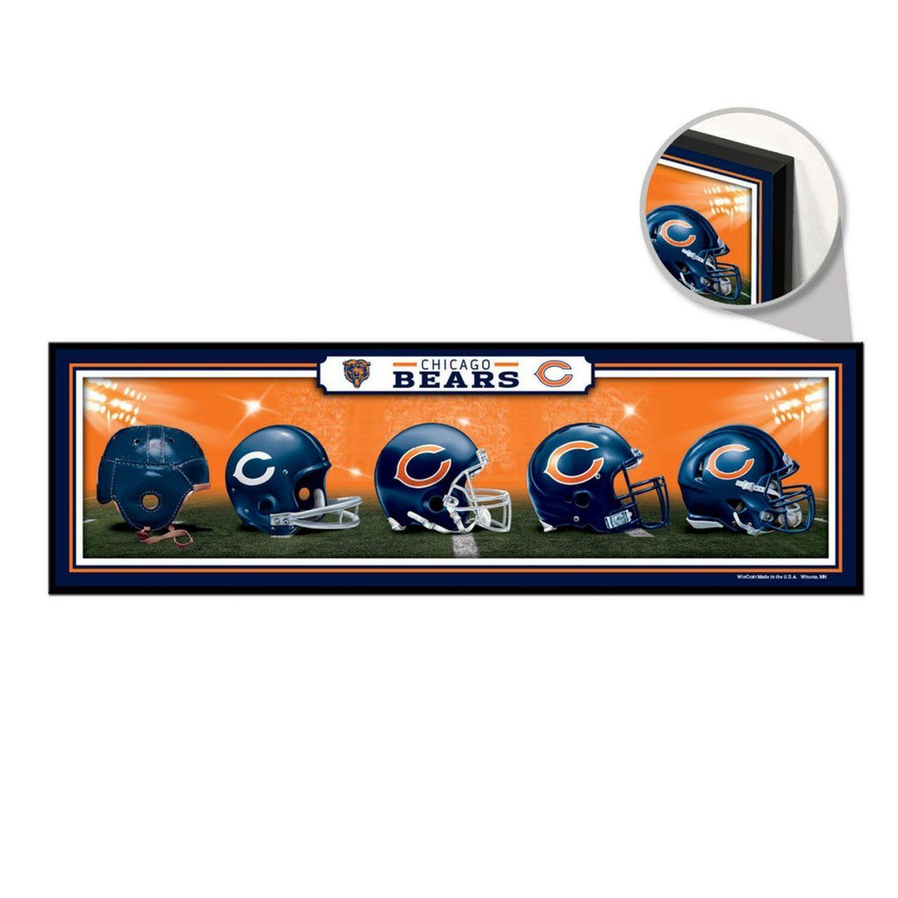 amfoo - Wincraft NFL Holzschild HELME Chicago Bears 76x22cm