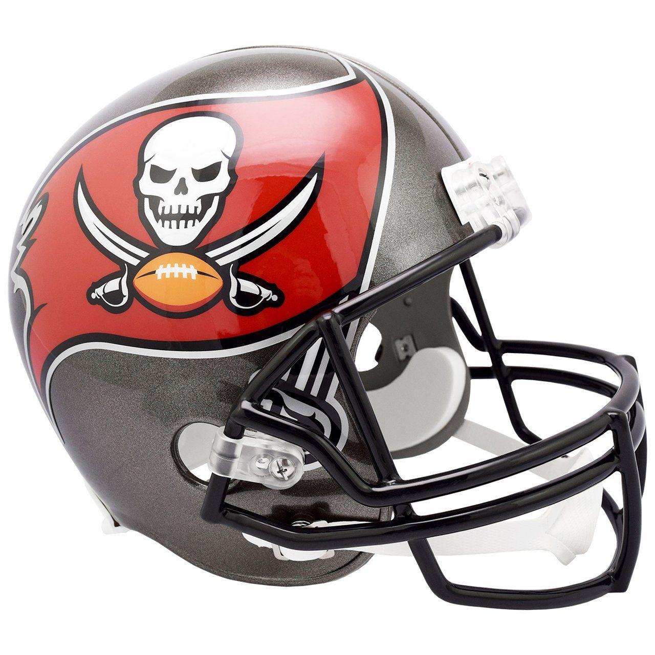amfoo - Riddell VSR4 Replica Football Helm - Tampa Bay Buccaneers