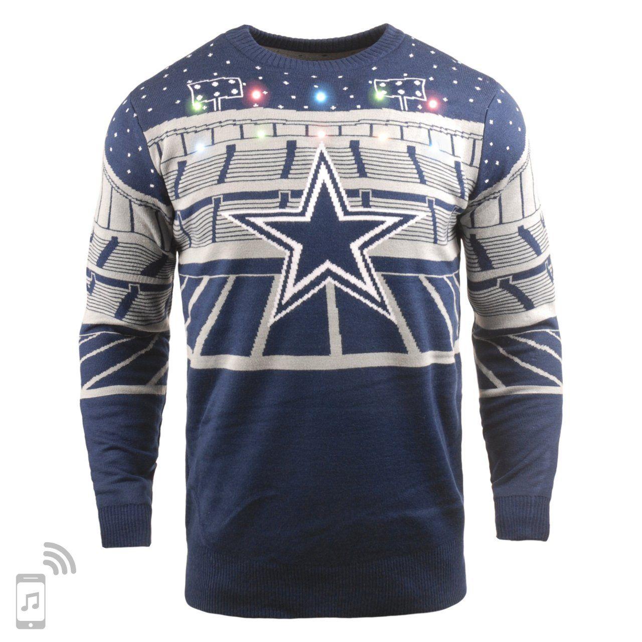 amfoo - NFL Ugly Sweater XMAS LED Pullover - Dallas Cowboys
