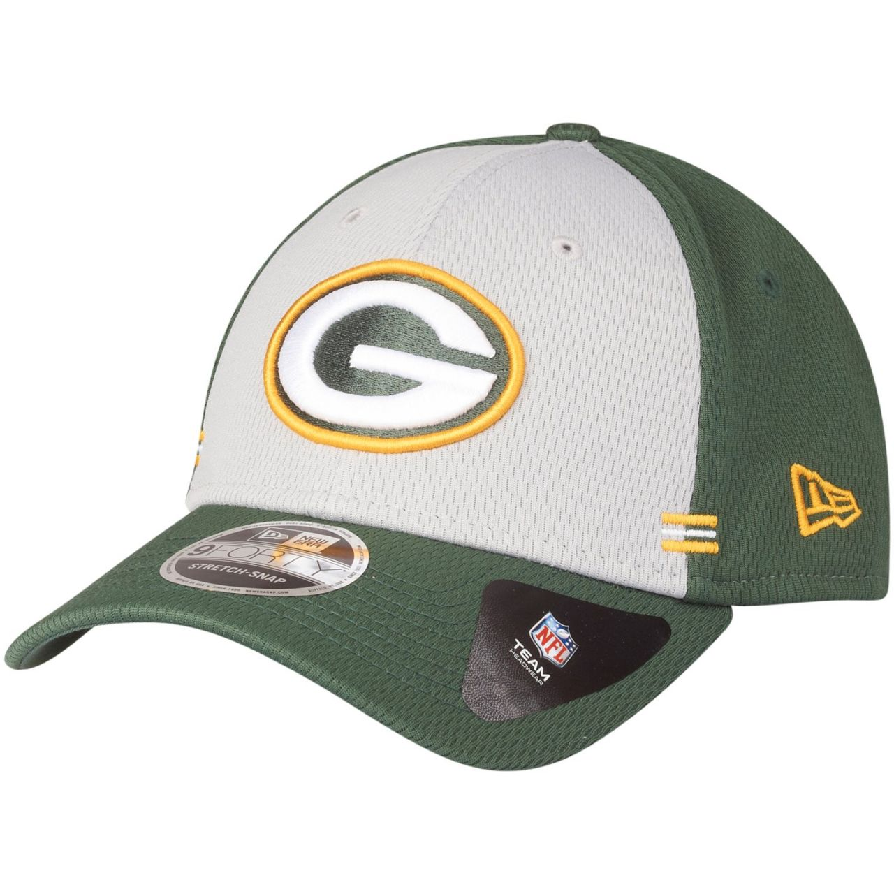 amfoo - New Era 9FORTY Stretch Snap Cap - HOMETOWN Green Bay Packers