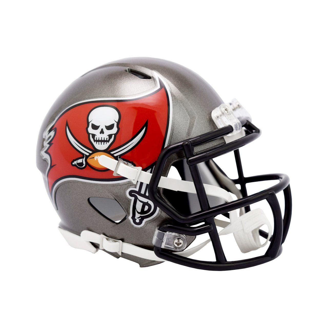 amfoo - Riddell Mini Football Helm - Speed Tampa Bay Buccaneers 2020