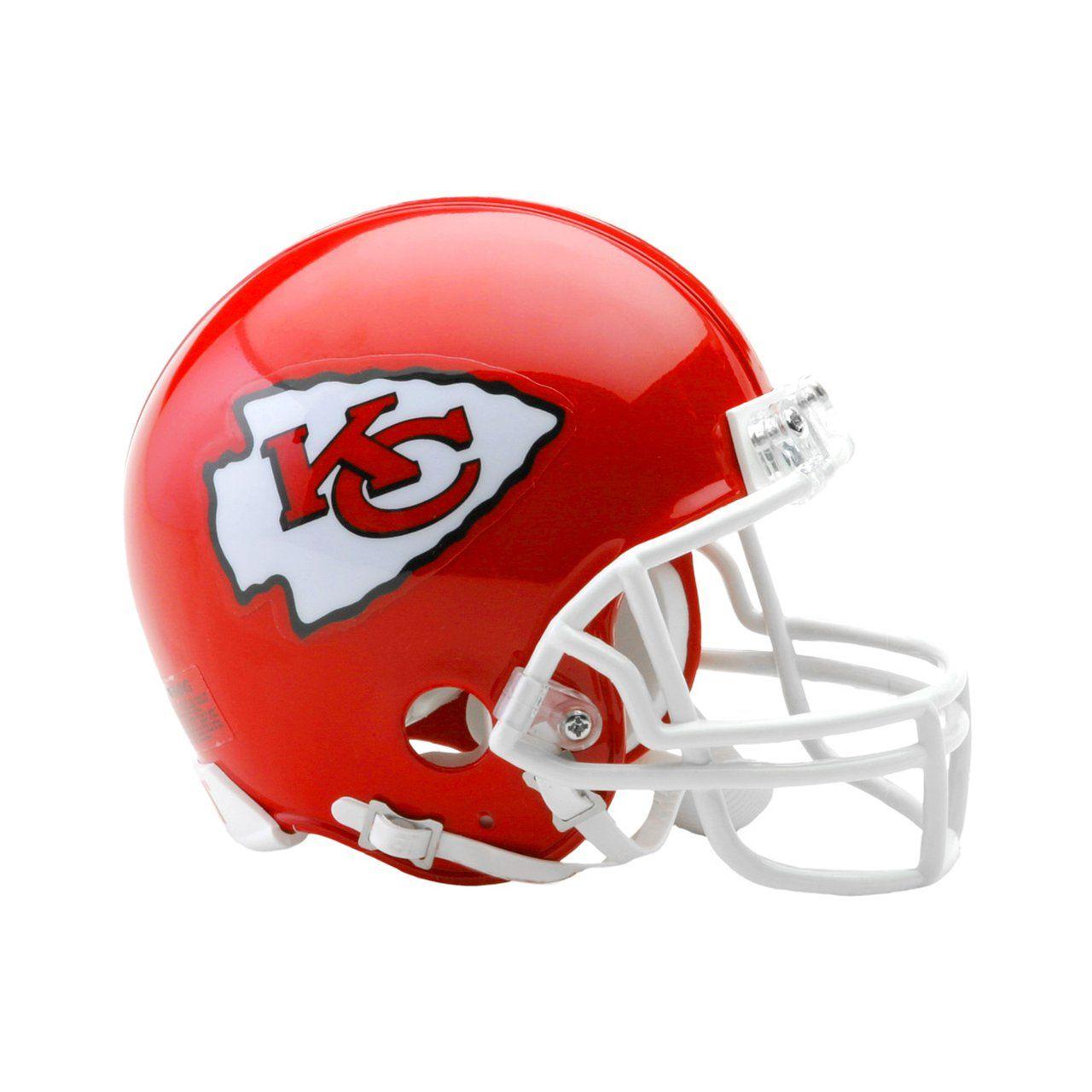 amfoo - Riddell VSR4 Mini Football Helm - NFL Kansas City Chiefs