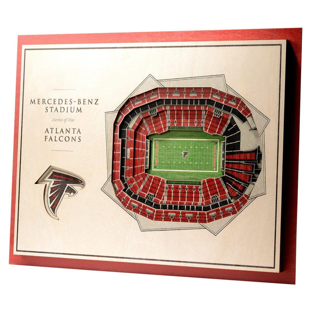 amfoo - YouTheFan Holz Wanddeko Stadion Atlanta Falcons 43x33cm