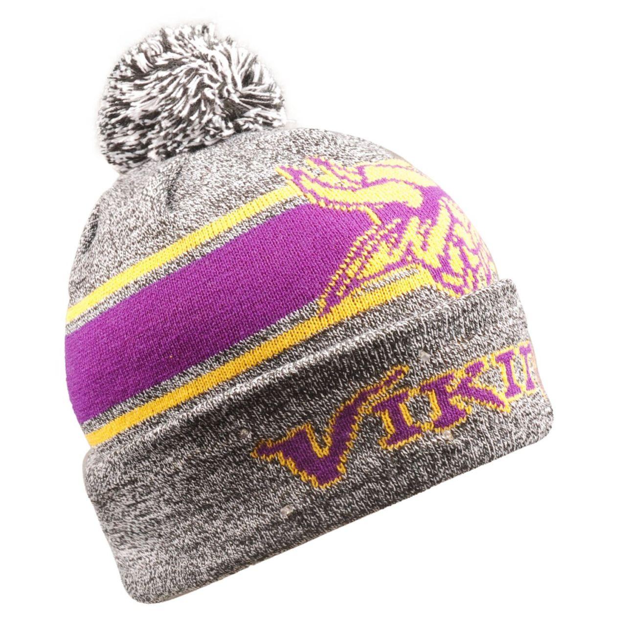 amfoo - LED Minnesota Vikings Wintermütze Bommel Beanie