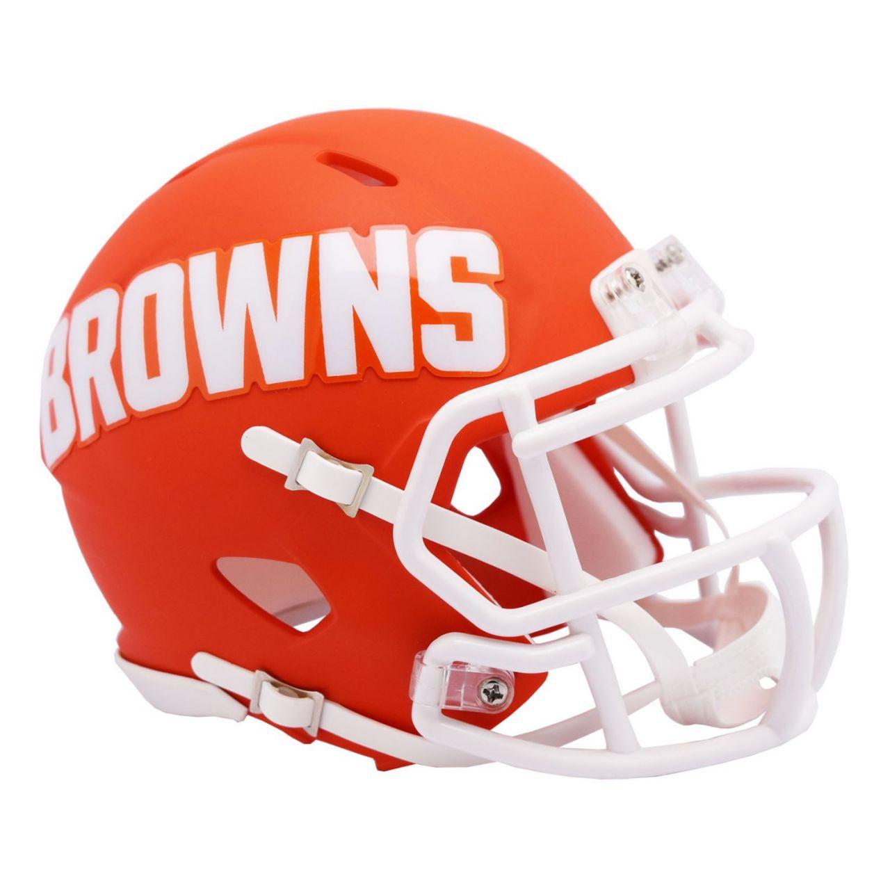 amfoo - Riddell Speed Mini Football Helm - NFL AMP Cleveland Browns