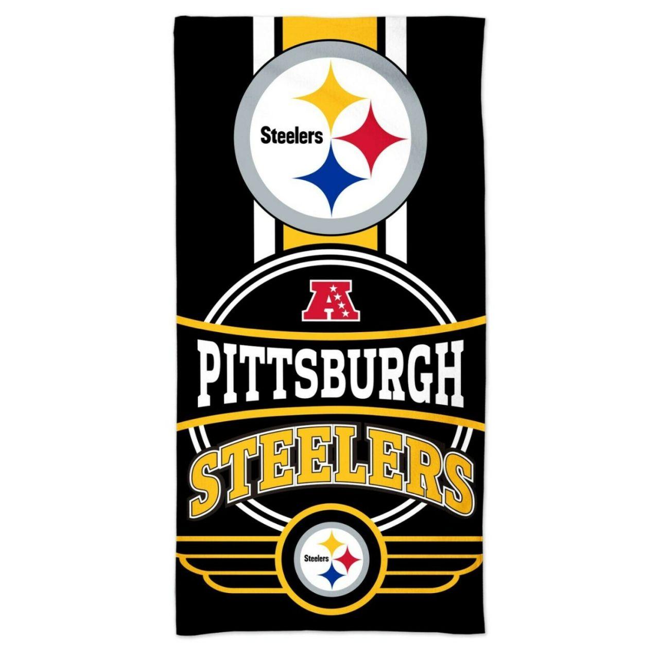 amfoo - Wincraft NFL Pittsburgh Steelers Strandtuch 150x75cm
