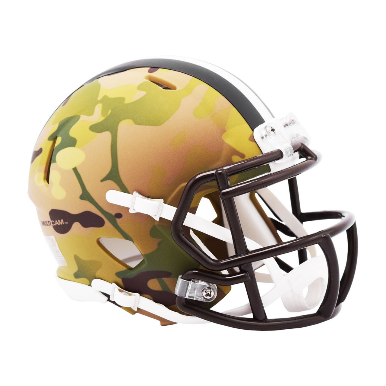 amfoo - Riddell Mini Football NFL Helm MULTICAM Cleveland Browns