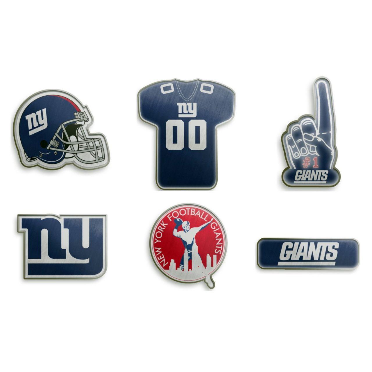 amfoo - New York Giants NFL Pin Badge Anstecknadel 6er Set
